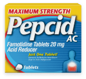 maximum strength pepcid ac product package