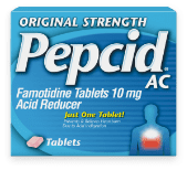 original strength pepcid ac product package