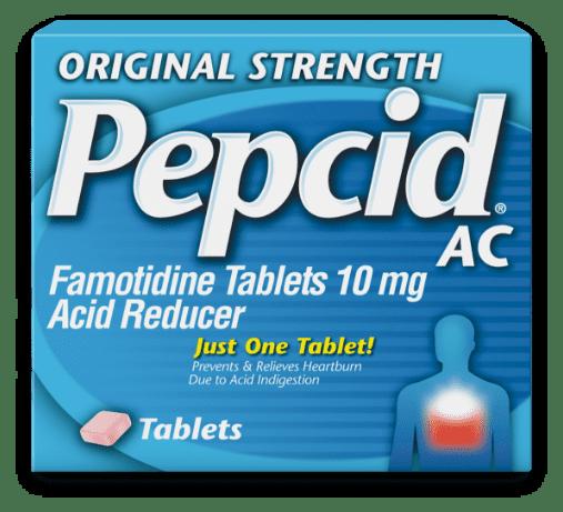 original strength pepcid ac product packaging